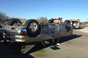 Rollover Closes Westbound River Road - Adam Goldberg/Northwest Fire