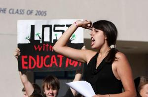 Teacher RIFs get students riled