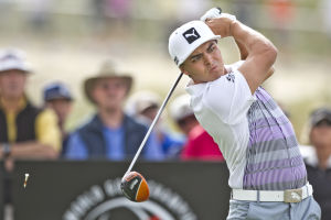 Rickie Fowler: The first major upset of the day was between third-seeded and 2010 Accenture champion Ian Poulter and 14th-seeded Rickie Fowler. Fowler defeated Poulter 2 and 1 and will face six-seed Jimmy Walker tomorrow. - Randy Metcalf/The Explorer
