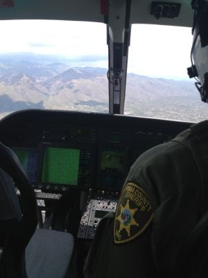 Missing Hiker Found: Air units assisted in the search for the missing hiker. - PCSD