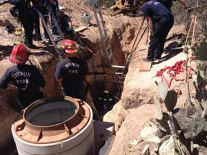 TFD rescues fallen man in trench