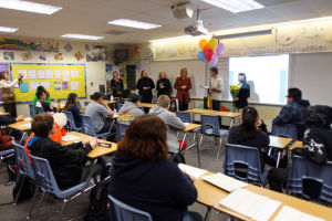 Tucson Excellence Award: People from Tucson Values Teachers and OfficeMax honor Mountain View teacher Charles Kamb with the Teacher Excellence Award, which included a $100 gift card and a bag of school supplies.  - Randy Metcalf/The Explorer