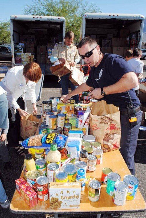 Food drive collects more than 12 tons for the needy