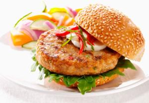 Chicken burger food