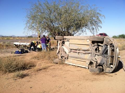 Woman critically injured following rollover on I-10