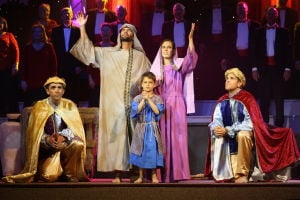 OV Church Of Nazarene Christmas Production: Chris & Sharon Collins, Cason Collins, Rick Trevizo, and Mike Fleishman perform the nativity scene. - Oro Valley Church of the Nazaren