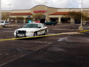 Northwest Side Robbery: Pima County Sheriff deputies have evacuated the Safeway and surrounding businesses at Linda Vista and Thornydale Road. Deputies have also sent a robot inside to determine if that area is safe.  - Randy Metcalf/The Explorer