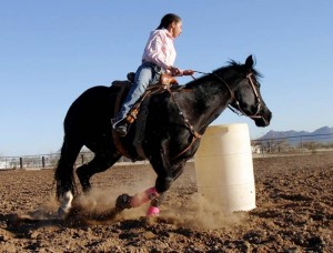 Running the barrels in Marana