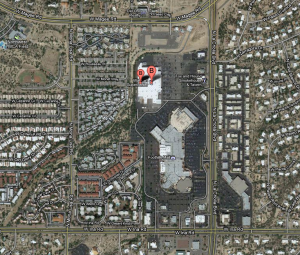 Walmart At Ina And La Cholla: The Walmart at Ina and La Cholla where people are being evacuated due to a bomb threat.