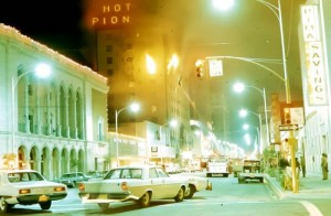 Firefighter's Film Remembers City Tragedy  : courtesy photo, Smoke obscured the view of the Hotel Pioneer in downtown Tucson. Fire destroyed the building on the night of Dec. 19, 1970. A firefighter who helped battle the blaze has produced a documentary film to commemorate the 40th anniversary of the event.