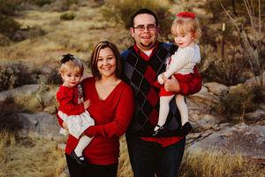 Kedzierski Family: Proud parents, Gwen Mayo and Ryan Kedzierski recently celebrated Bella, left, and Sophia's second birthday.  - J.D. Fitzgerald/The Explorer