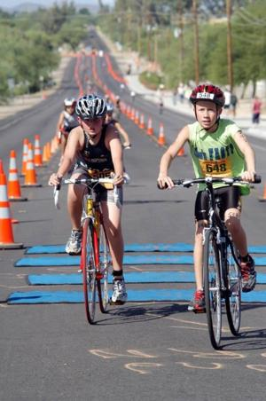 Young triathletes test their mettle