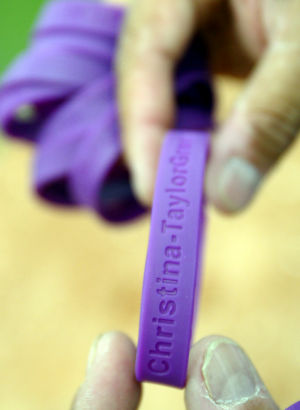 Spring Training: Each of the players who played in Thursday's game wore these bracelets.  - Randy Metcalf/The Explorer