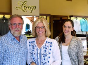 Loop Jean: Loop Jean Company owners Ted Greve, left, and Tamara Greve and the company's marketing coordinator Jordyn Coty. - Randy Metcalf/The Explorer