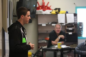 NASCAR Racecar Driver Alex Bowman: While at Ironwood Ridge High School, NASCAR racecar driver Alex Bowman spoke with Tim HolleÕs driver education class, which Bowman used to attend.  - Randy Metcalf/The Explorer