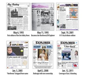 Explorer front pages