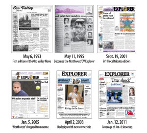 Explorer Front Pages: The front page of the newspaper has had many changes throughout the years.