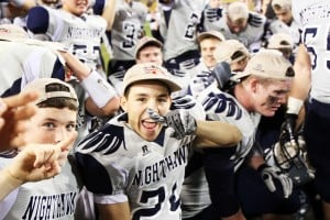 Ironwood Ridge Wins Division II State Football: Dominic Campus is excited after the Nighthawks' victory.  - Jon Grimes/Special to the Explor