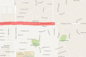 Orange Grove Road Closed After Gas Line Hit - Google Maps