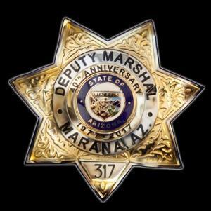 Marana cops to don anniversary badges
