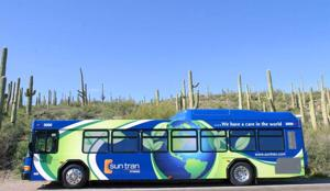 Sun Tran running a new hybrid bus