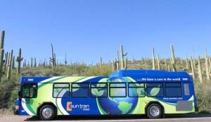 Sun Tran running a new hybrid bus