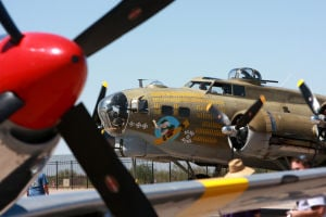 Wings Of Freedom Tour: World War II planes were on display this past weekend at Marana's airport for the Wings of Freedom Tour.  - Randy Metcalf/The Explorer