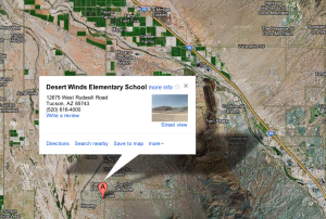 Desert Winds Elementary School: Desert Winds Elementary School is under lockdown due to an unknown subject on campus  - Google Maps