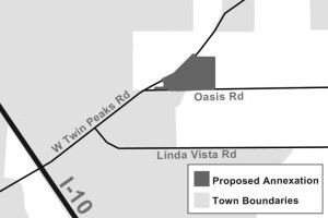 "Annexation, Development, Residents Say ""no"" In Marana: Marana has proposed annexing 36.79 acres of residential property. - Illustration by J.D. Fitzgerald/The Explorer"