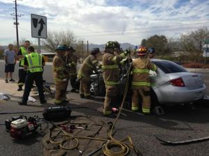 Northwest Fire extricating critical patient from accident
