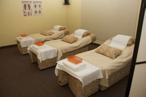 AZ Massage Center: AZ Massage Center primarily focuses on reflexology foot massage, but offers other forms of massages. It is located on North La Canada Drive next to Noble Hops.  - Hannah McLeod/The Explorer