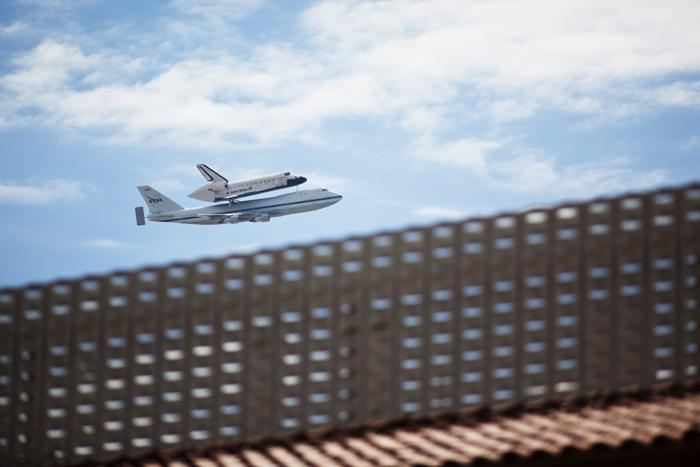 Space Shuttle Flyover