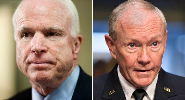 McCain and Dempsey