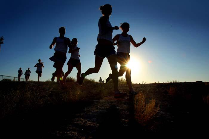 Runners at their marks