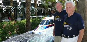 Northwest men help push solar car