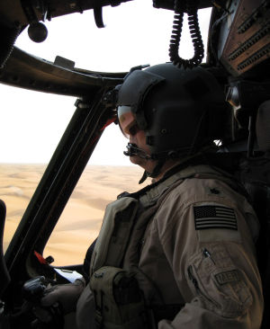 "Jeff ""Spanky"" Peterson: Air Force Lt. Col. Jeff ""Spanky"" Peterson pilots an HH-60 Pave Hawk helicopter - Photo courtesy of Jeff Peterson"