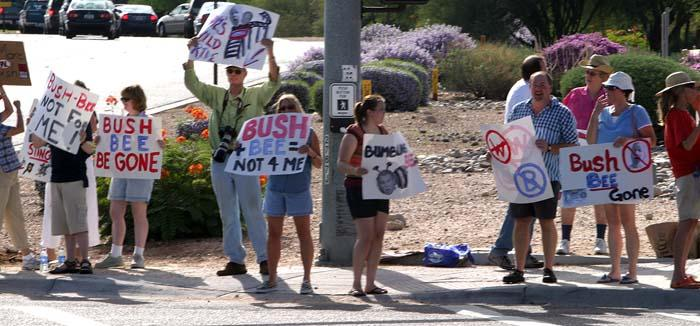 Bush-Bee fund-raiser sparks protests