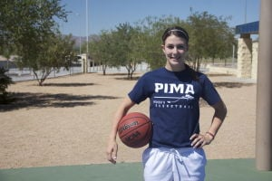 Melody McLaughlin: Melody McLaughlin, a senior at Mountain View High School, recently signed to play for the Pima Community College women's basketball team.  - Hannah McLeod/The Explorer