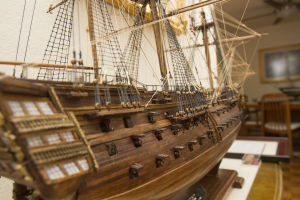 Ship Builder Bill Lofquist: It took Bill Lofquist 823.5 hours to construct this scale model of the HMS Victory. - Randy Metcalf/The Explorer