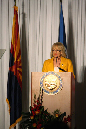 Jan Brewer (copy): Gov. Jan Brewer  - Randy Metcalf/The Explorer