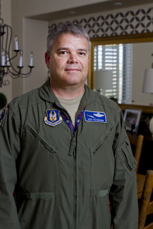 "Jeff ""Spanky"" Peterson: Air Force Lt. Col. Jeff ""Spanky"" Peterson. - Randy Metcalf/The Explorer"
