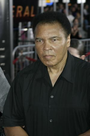 Muhammad Ali at the Los Angeles premiere of 'Collateral' held at the Orpheum Theatre in Los Angeles,