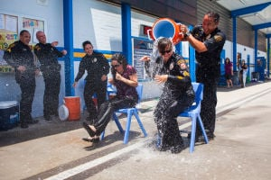 "Local officers endure ""Ice Water Challenge"" to raise money for charity"