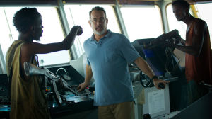 Tom Hanks: L-R, Barkhad Abdi, Tom Hanks and Faysal Ahmed star in Columbia Pictures'