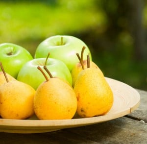 Apples And Pears: The color of the edible portion of fruits and vegetables reflects the presence of beneficial phytochemicals, such as carotenoids and flavonoids. White-flesh fruits and vegetables, such as apples and pears, are the most helpful.  - ©iStockphoto.com/firemanYU