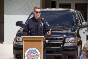MPD's New Equipment: Marana Chief of Police Terry Rozema talks about the new DUI equipment and motorcycles recently purchased for the town's public safety programs. - Hannah McLeod/The Explorer