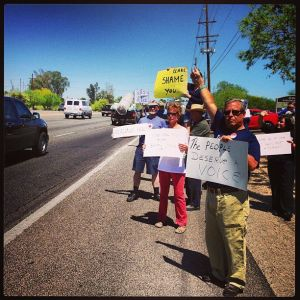 Protesters Outside Jeff Flake's Office