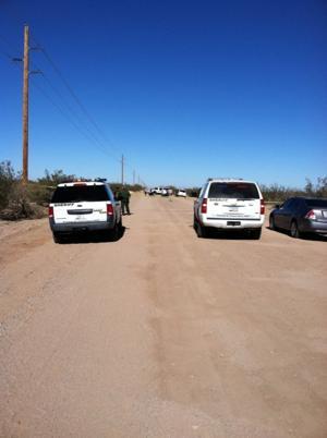 Homicide units on scene