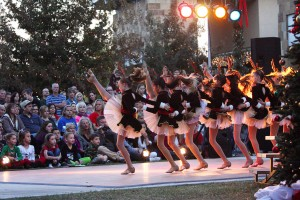 Marana Holiday Tree Lighting: Dancers from the Tucson Dance Academy perform during the holiday festival in Marana Saturday.  - Randy Metcalf/The Explorer