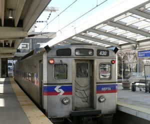 SEPTA train in Philadelphia
